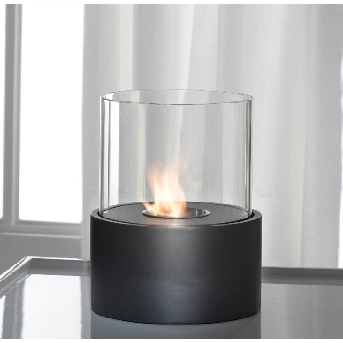 Caminetto a bioetanolo nero con bruciatore rotondo da 0 5 lt - Stufa a combustibile liquido opinioni ...