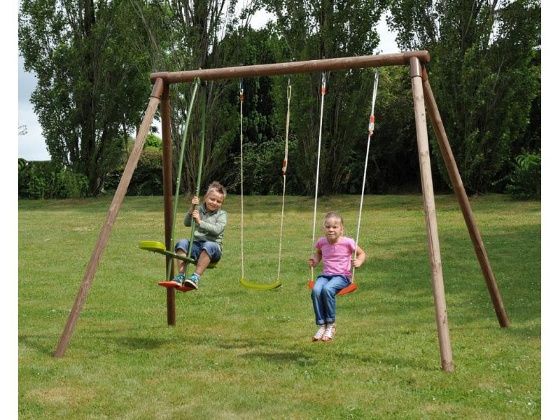 Altalena in legno ninfea verdegarden altalene in vendita for Altalena da giardino per bambini chicco