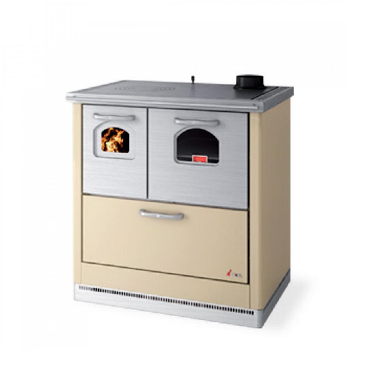 Cucina a legna 6 kw mod carla avorio cadel cadel stufe a - Stufa a combustibile liquido opinioni ...