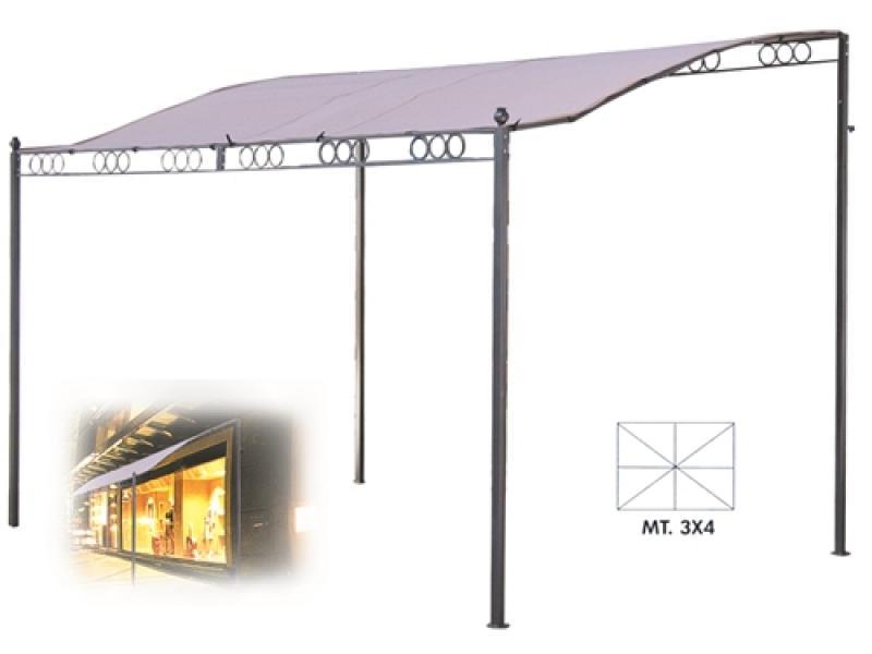 Gazebo Per Giardino Beige 3x4 A Veranda Mod Verdegarden