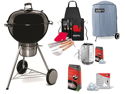 Weber Barbecue a carbone Weber Master Touch GBS 57 cm con Kit completo pronto all'uso