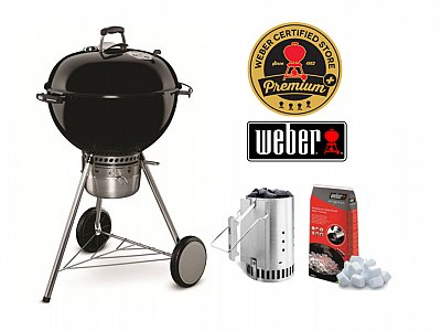 Weber Barbecue a carbone Weber Master Touch GBS 57 cm con Kit Ciminiera