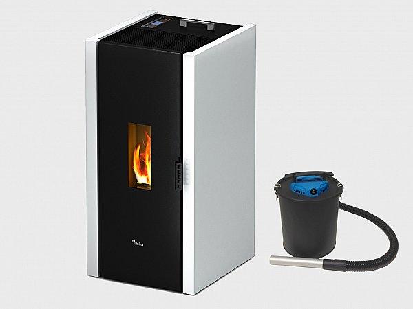 Stufa a pellet cadel free da 6 5 kw ideale per 156 mc bianco - Stufa a combustibile liquido opinioni ...
