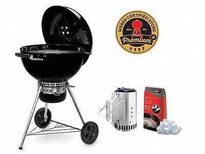 New 2019 BBQ Weber a carbone Master Touch E-5750 Black 57cm con Kit Ciminiera