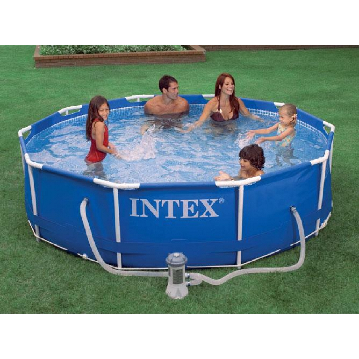 Piscina tonda intex 305x76 mod metal frame con telaio for Piscine portante