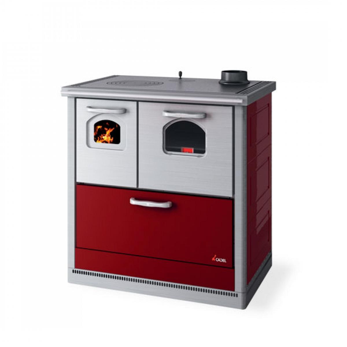 Cucina a legna 6 kw mod carla rossa cadel cadel stufe a - Cucina a legna usata ...