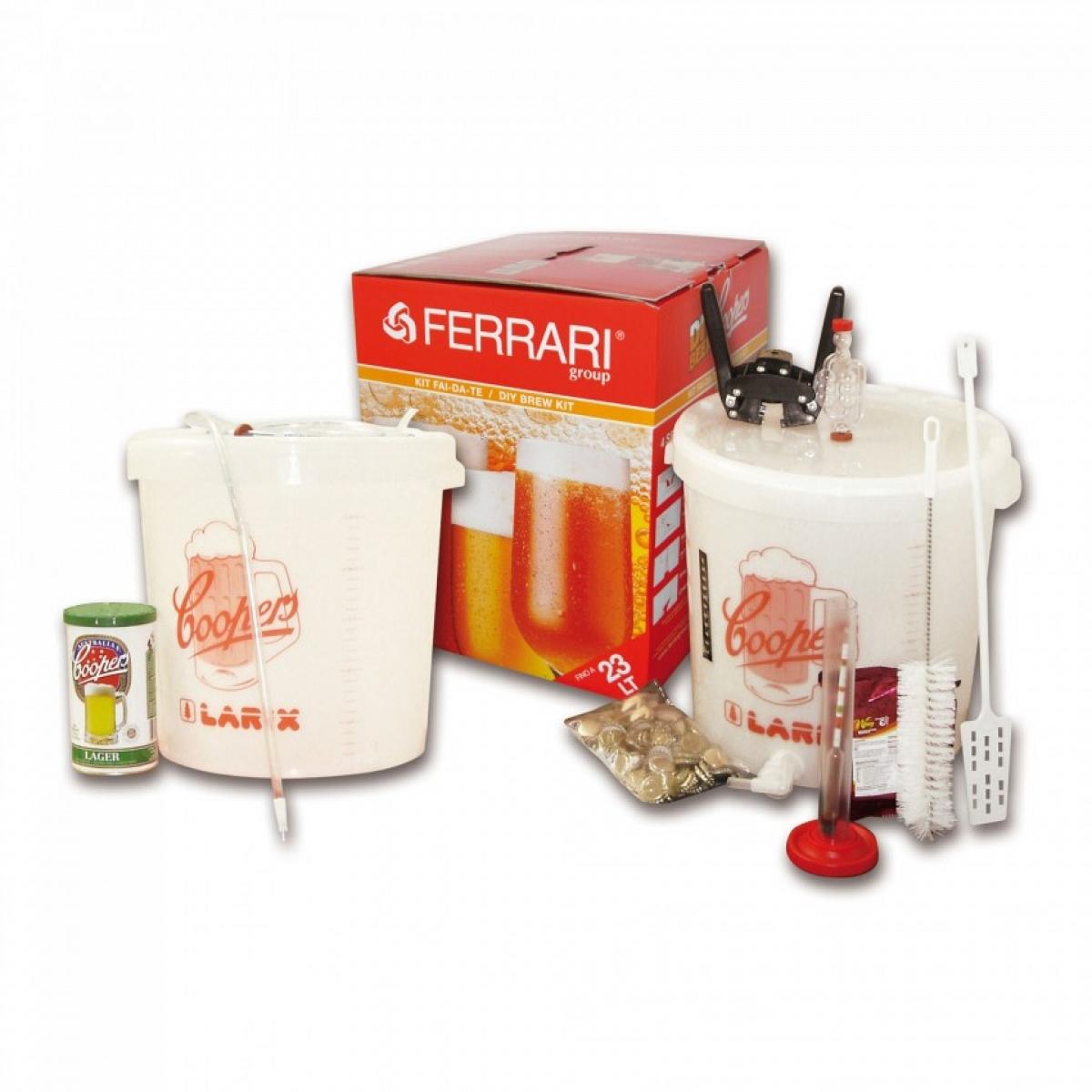 Kit fermentazione birra cooper mod lux con malto ferrari for Ferrario arredamenti srl