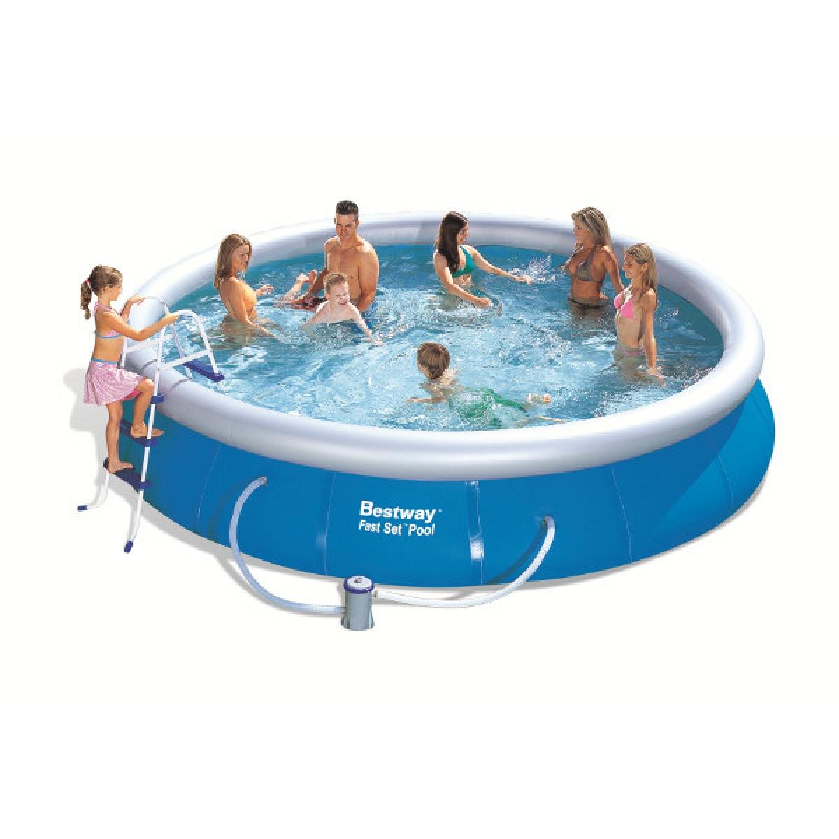 Piscina fuoriterra tonda bestway 457x91 mod fast set - Filtri per piscine fuori terra ...