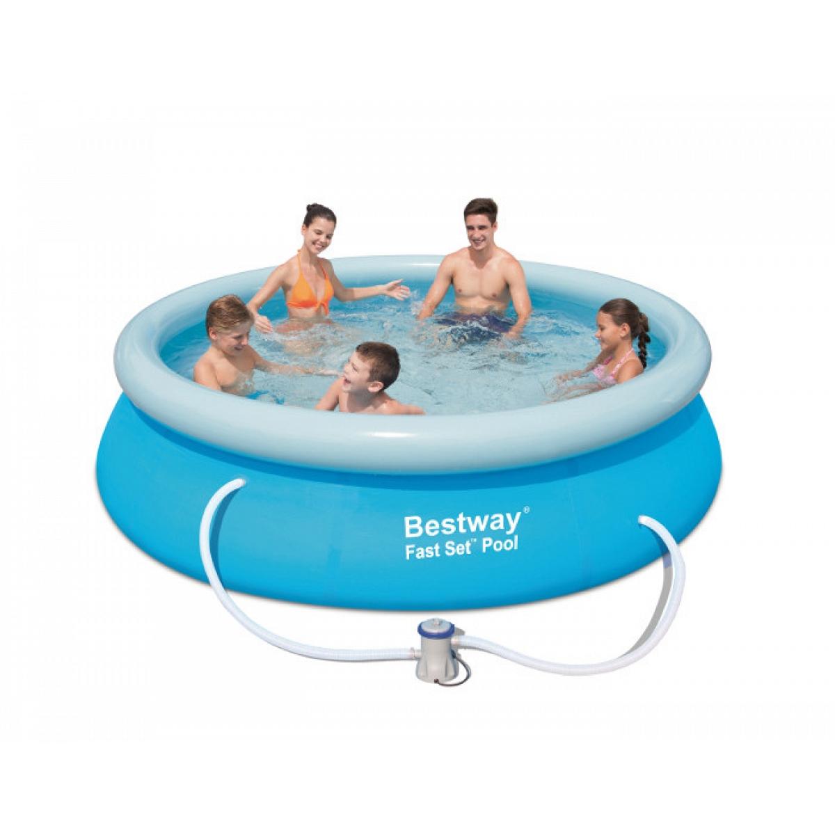 piscina fuoriterra tonda bestway 305x76 mod fast set. Black Bedroom Furniture Sets. Home Design Ideas