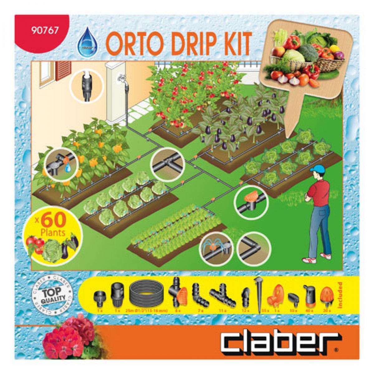 Orto drip kit claber claber kit irrigazione in vendita su for Claber giardinaggio
