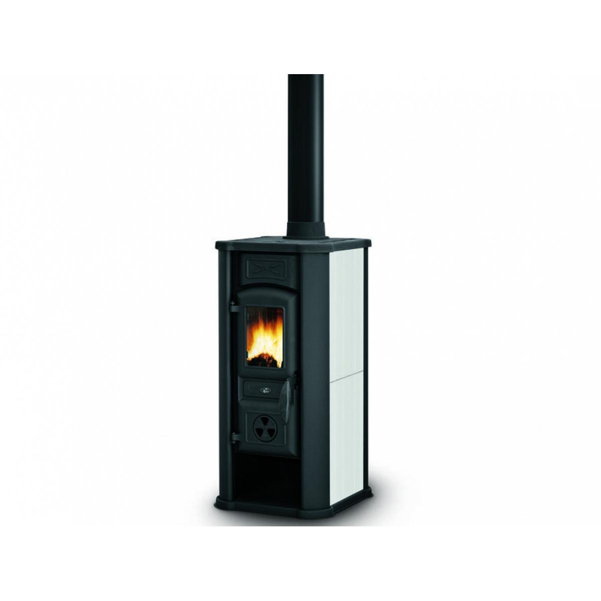 Stufa a legna bianco royal palazzetti mod efesto - Stufe a legna per riscaldamento ...
