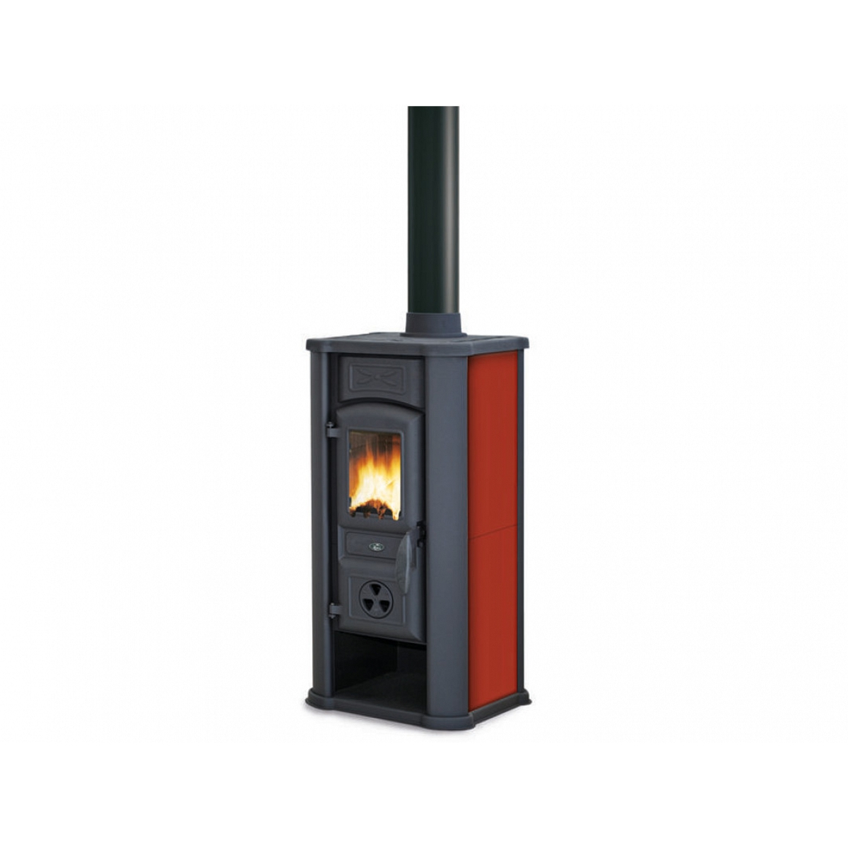 Stufa a legna rosso royal palazzetti mod efesto - Stufa a combustibile liquido prezzi ...