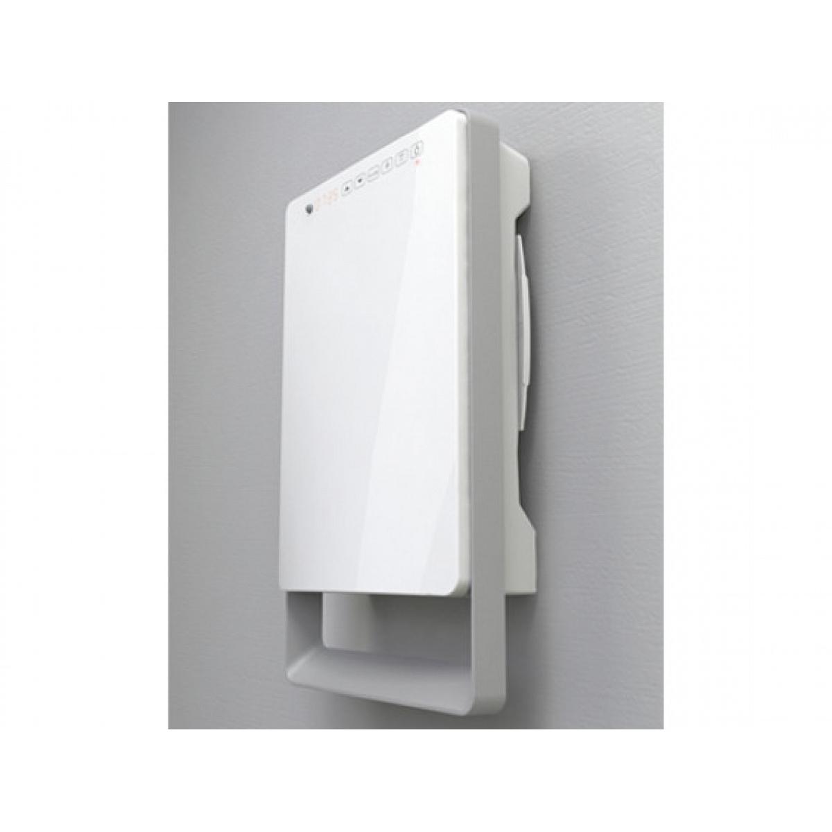 Termoventilatore da bagno digitale con barra grigia - Termoventilatore da parete per bagno ...