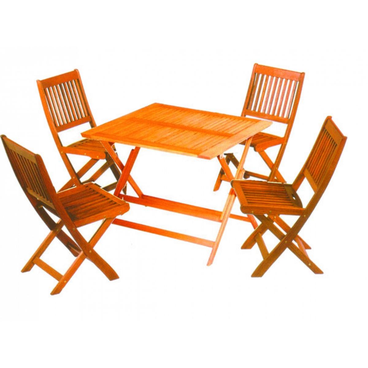 Tavolo 4 posti in legno d 39 acacia vette set tropic 90x90 cm for Tavolo 10 posti