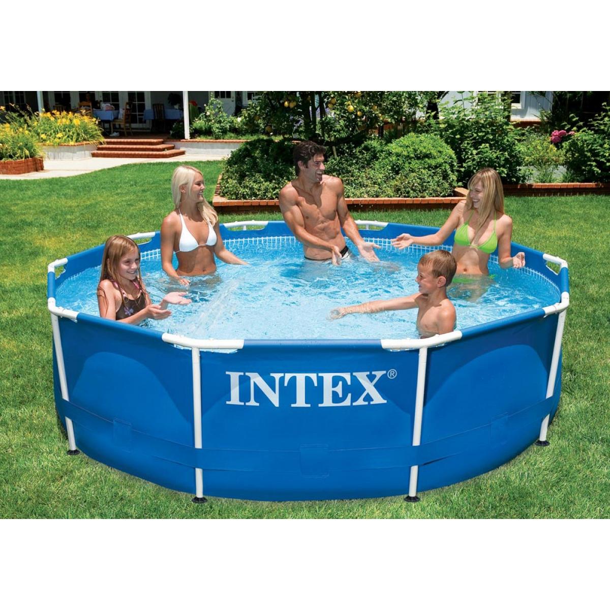 Piscina tonda fuoriterra intex 305x76 mod metal frame con - Filtri per piscine fuori terra ...