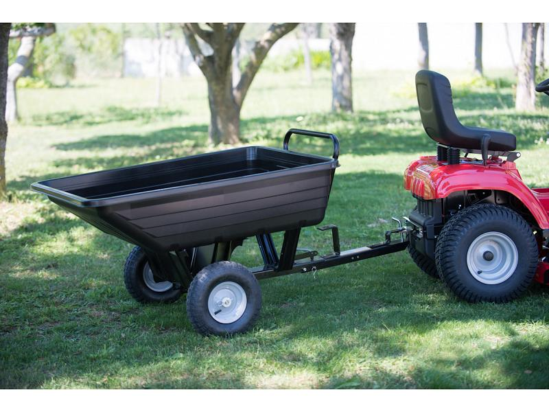 Carrello trainato per trattorino vasca in plastica for Vasca per giardino