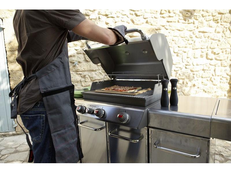 Pietra refrattaria rettangolare per pizza per barbecue a gas - Barbecue in pietra per esterni ...