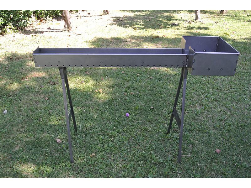 Cuoci arrosticini in ferro cm 100 verdegarden verdegarden for Barbecue fai da te in ferro