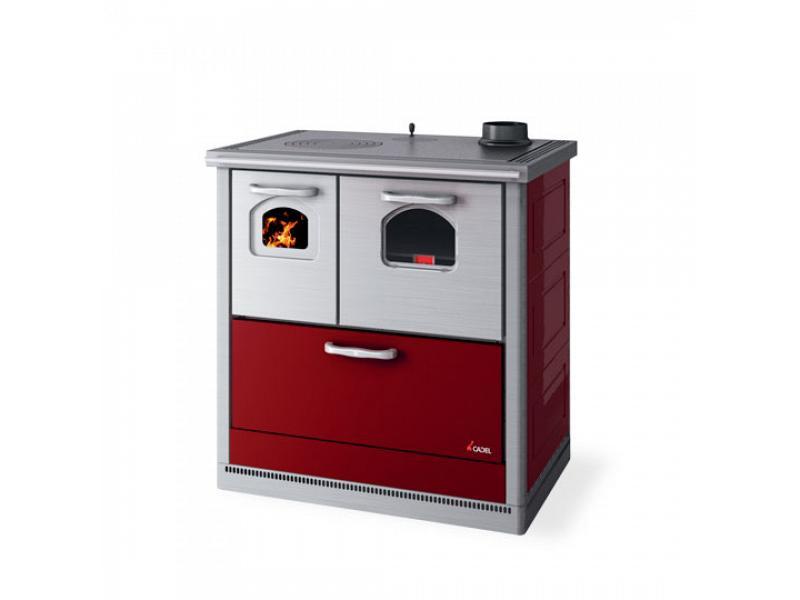 Cucina a legna 6 kw mod carla rossa cadel - Cadel Stufe a