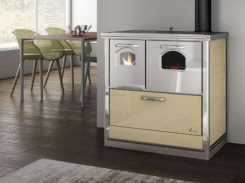 Cucina a legna 6 kw mod carla avorio cadel - Cadel Stufe a