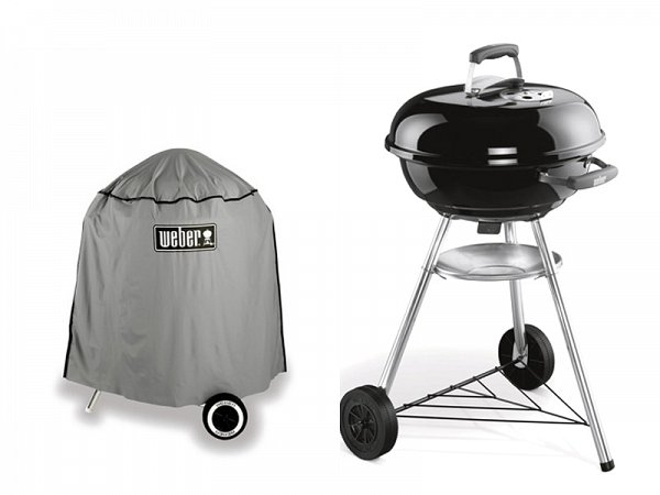 kit barbecue a carbone compact kettle weber 47 cm. Black Bedroom Furniture Sets. Home Design Ideas