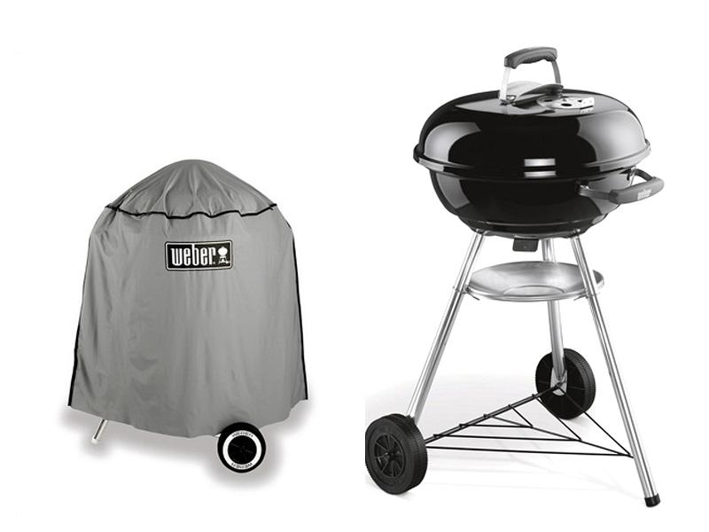 Kit barbecue a carbone Compact Kettle Weber 47 cm