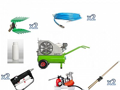 Verdegarden Kit 2 Operatori con Motocompressore DUETTO