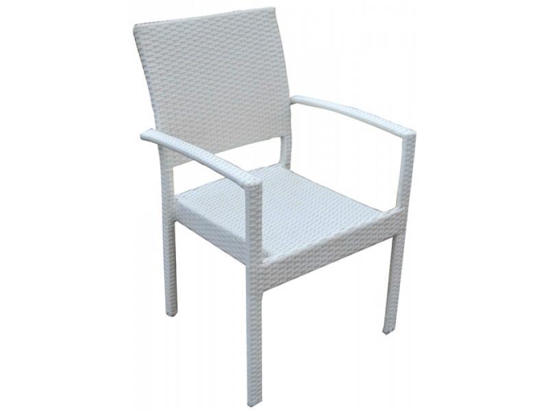 Sedia da giardino con braccioli bianca vette vette sedie for Sedie giardino moderne