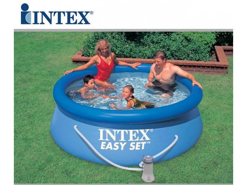 Piscina tonda intex fuoriterra 305x76 mod easy set intex for Piscina intex 5 metros diametro