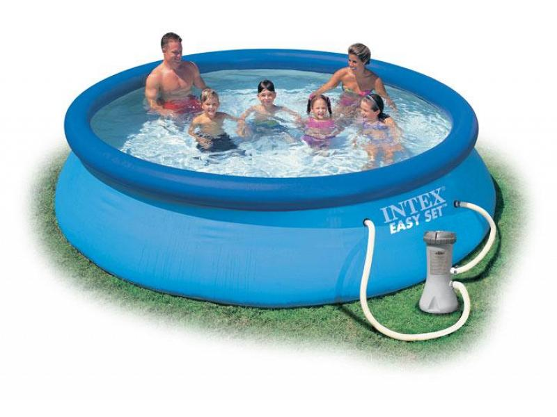 Piscina fuoriterra tonda intex 366x76 mod easy set intex for Easy piscine