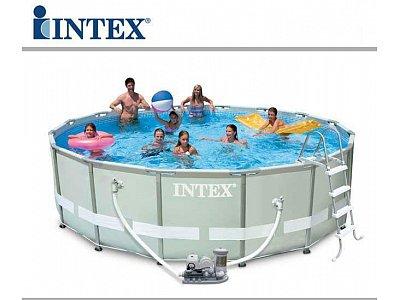 Telo copertura intex tondo ultra frame 488 intex piscine - Copertura invernale piscina intex ...