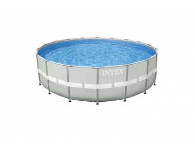 Piscina tonda intex fuoriterra 549x132 mod ultra frame con for Piscina intex 975x488x132