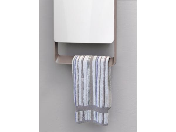Termoventilatore da bagno digitale con barra grigia for Termoventilatore bagno