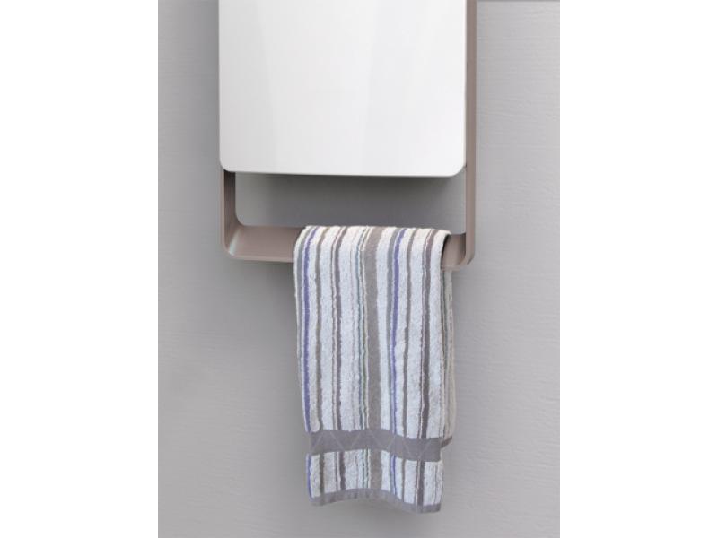 Termoventilatore da bagno digitale con barra grigia