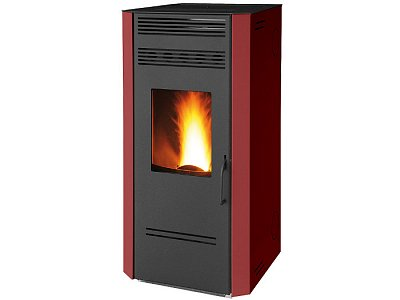 Stufa a pellet bordeaux 9,5 Kw Fair mod. Caris 100