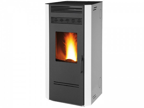 Fair Stufa a pellet bianca 7,7 Kw Fair mod. Caris 80