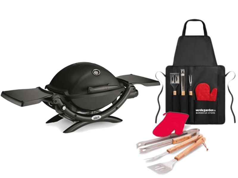 Barbecue a gas weber q 1200 portatile compreso di grembiule - Barbecue a gas portatile ...