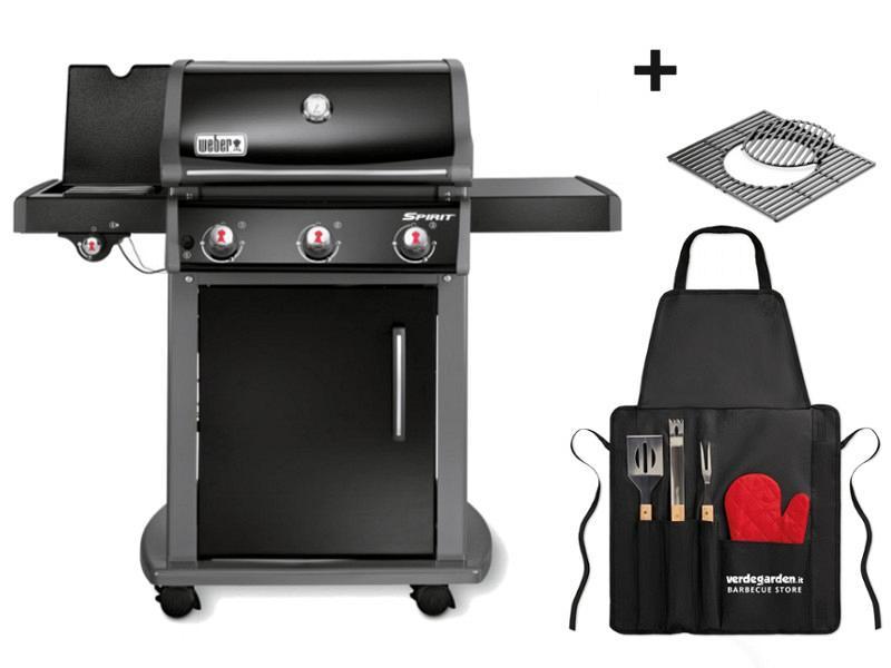 barbecue a gas spirit e 320 con grembiule per grill. Black Bedroom Furniture Sets. Home Design Ideas