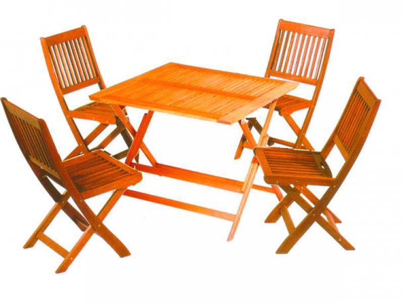 Tavolo 4 posti in legno d 39 acacia vette set tropic 90x90 cm - Tavolo 12 posti dimensioni ...