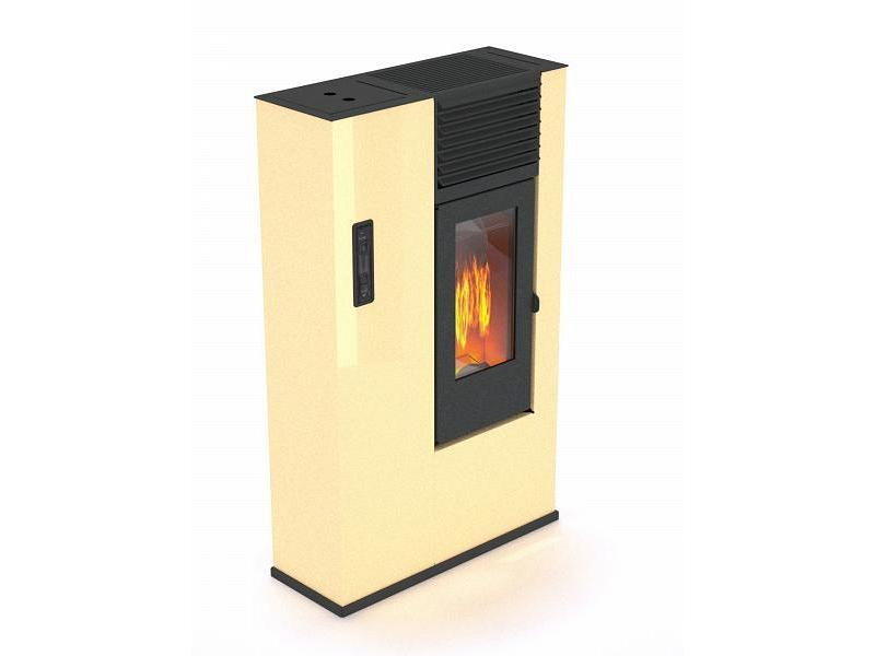 Stufa a pellet 7 5 kw mod giorgina avorio punto fuoco - Stufa elettrica che consuma poco ...