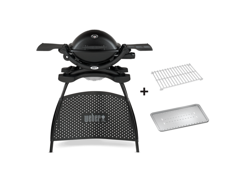 barbecue a gas weber q2200 con stand in offerta. Black Bedroom Furniture Sets. Home Design Ideas