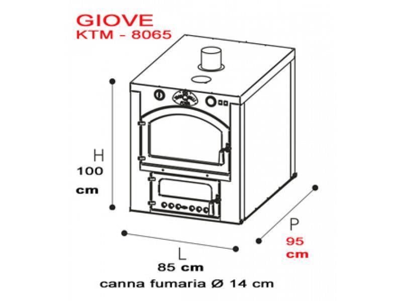 Forno a legna da incasso tranquilli giove kim 8065 - Forno da incasso dimensioni ...